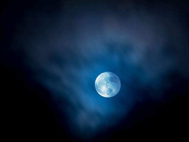 full moon in sky